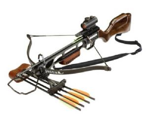 EK Archery 175lb Wood Jaguar Recurve Powerful Crossbow Full Red Dot Kit